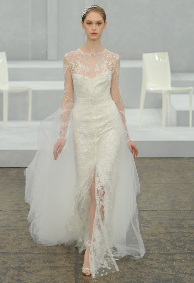 Monique lhuillier spring 2015 bridal collection wedding for Price of monique lhuillier wedding dresses