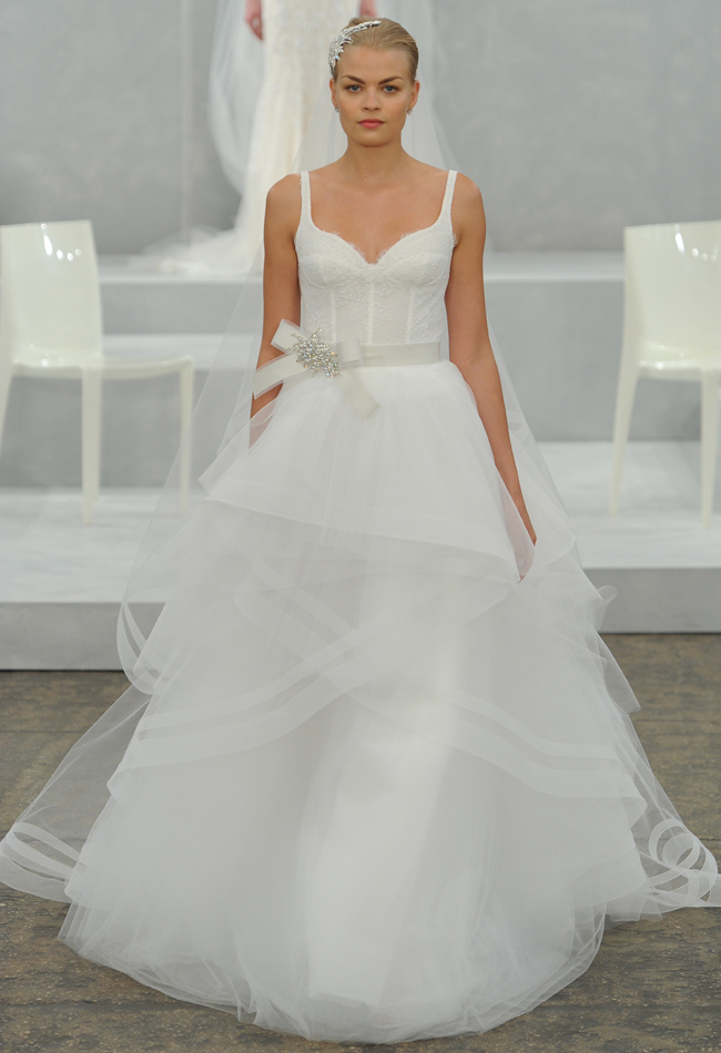 Monique Lhuillier Spring 2015 Bridal Collection - Wedding ...