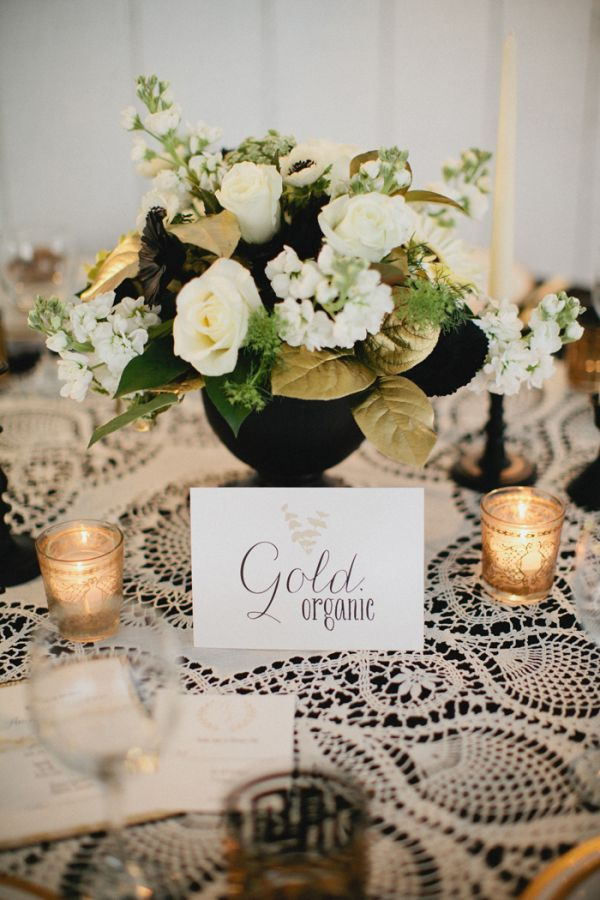 Wedding Philippines - Wedding Trends - Metallic Painted Gold Silver Plant Flower Fruit 01- Golden Leaves