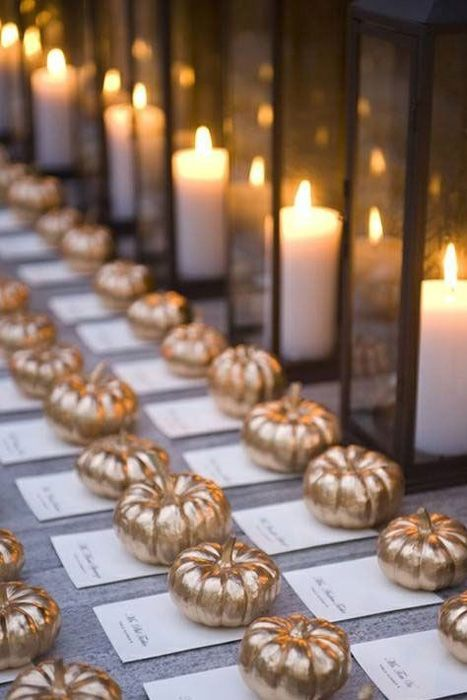 Wedding Philippines - Wedding Trends - Metallic Painted Gold Silver Plant Flower Fruit 06- Golden Pumpkins