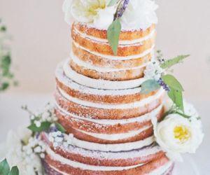 37 Delicious Semi Naked Wedding Cakes - Wedding
