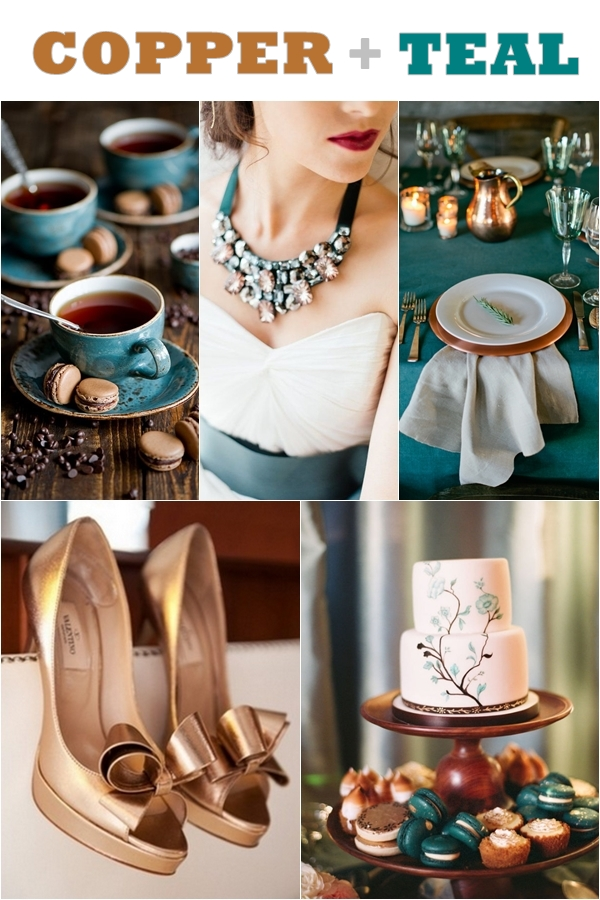 Wedding Philippines - Weddings by Color - Copper Teal Wedding Ideas 01