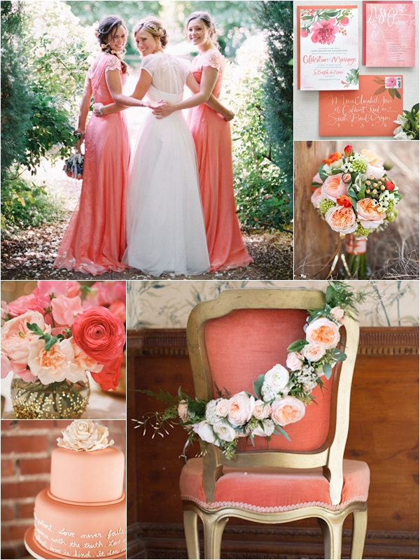 Wedding Philippines - Weddings by Color Motif - Shades of Coral Gold Green Wedding Ideas
