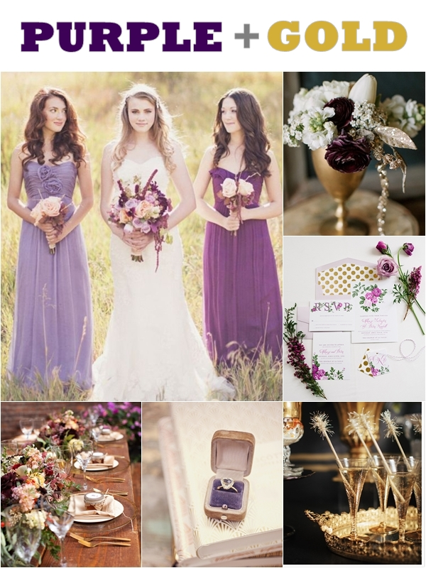 Wedding Philippines - Weddings by Color - Purple Gold Wedding Ideas