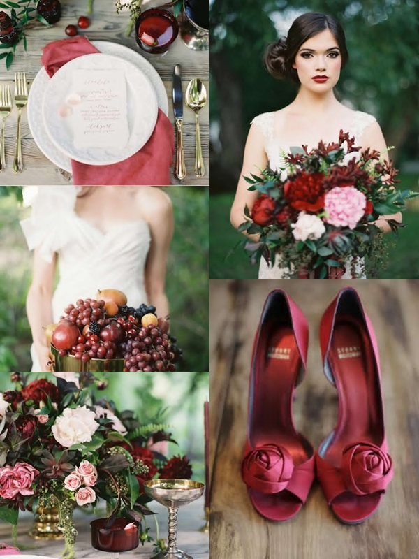 Wedding Philippines - Weddings by Color - Cranberry Gold Brown Wedding Ideas 03