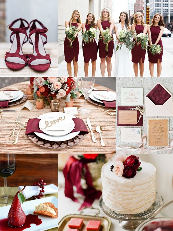 Wedding Philippines - Weddings by Color Motif - Shades of Marsala Blush Cranberry Wedding Ideas