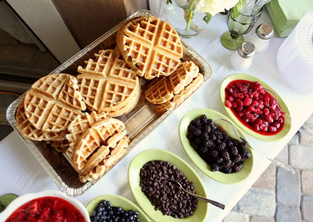 Wedding Philippines - 19 Cute Ways to Display Pancakes and Waffles at Your Wedding Buffet Bar  Food Ideas (11)