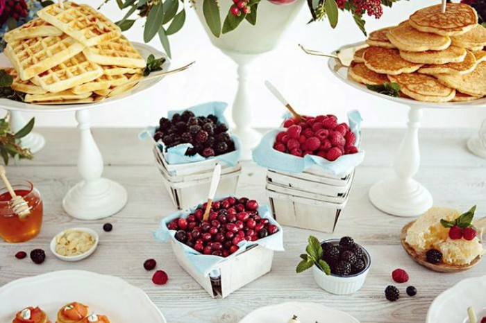 Wedding Philippines - 19 Cute Ways to Display Pancakes and Waffles at Your Wedding Buffet Bar  Food Ideas (12)
