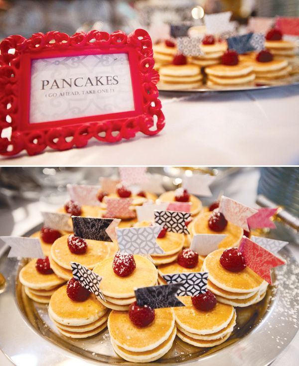 Wedding Philippines - 19 Cute Ways to Display Pancakes and Waffles at Your Wedding Buffet Bar  Food Ideas (17)
