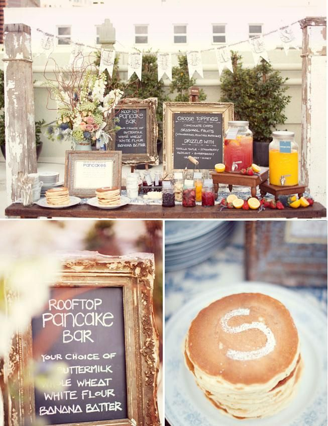 Wedding Philippines - 19 Cute Ways to Display Pancakes and Waffles at Your Wedding Buffet Bar  Food Ideas (2)