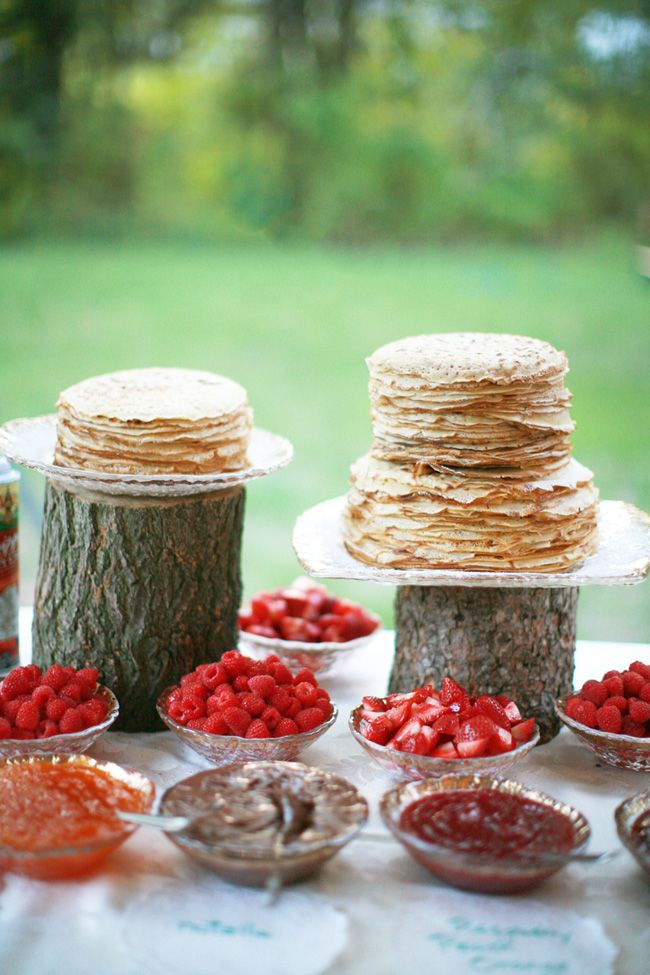 Wedding Philippines - 19 Cute Ways to Display Pancakes and Waffles at Your Wedding Buffet Bar  Food Ideas (3)