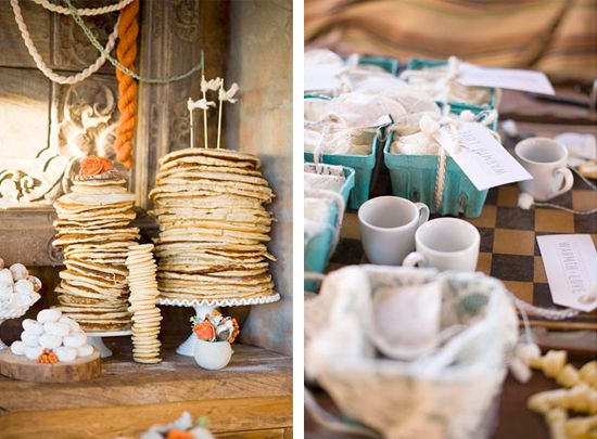 Wedding Philippines - 19 Cute Ways to Display Pancakes and Waffles at Your Wedding Buffet Bar  Food Ideas (5)
