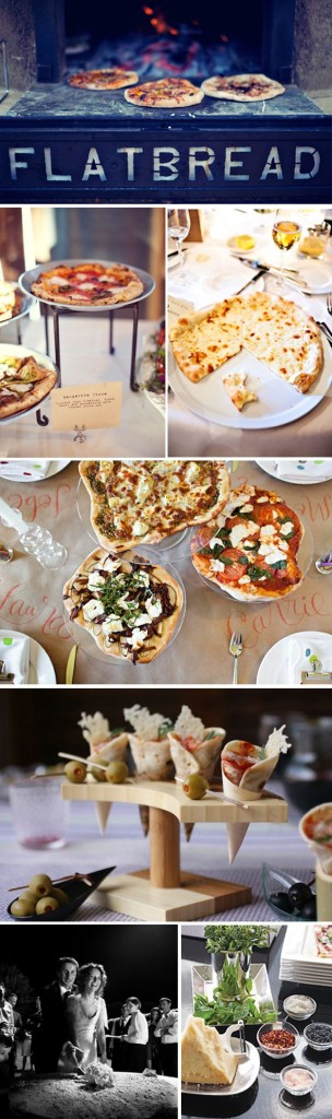 Artisan pizza wedding