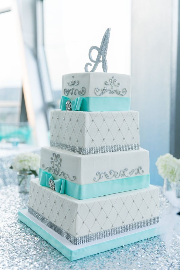 Wedding Philippines - 25 Elegant Tiffany Blue Wedding Cake Ideas (1)