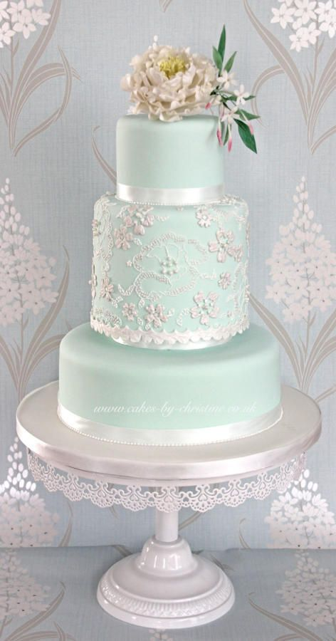 Wedding Philippines - 25 Elegant Tiffany Blue Wedding Cake Ideas (10)