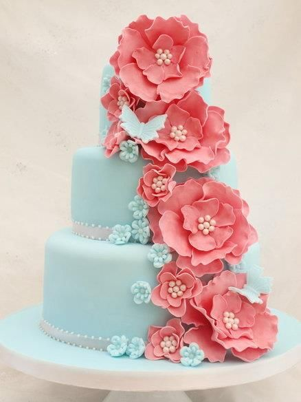 Wedding Philippines - 25 Elegant Tiffany Blue Wedding Cake Ideas (11)