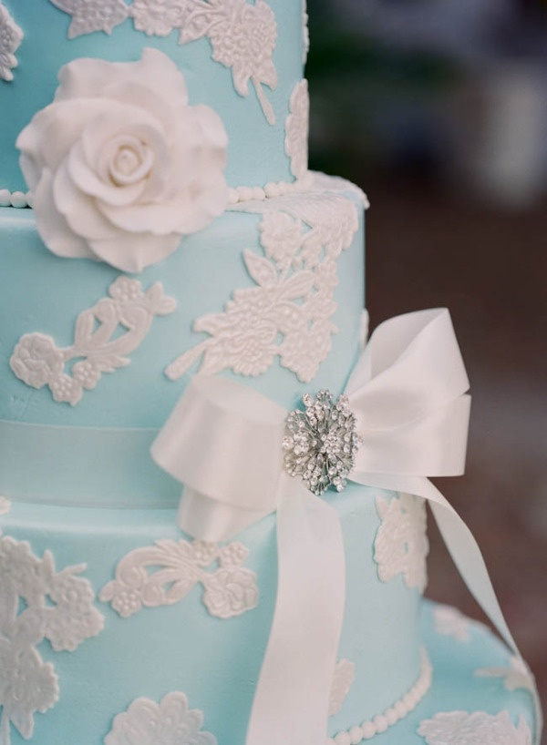 Wedding Philippines - 25 Elegant Tiffany Blue Wedding Cake Ideas (12)