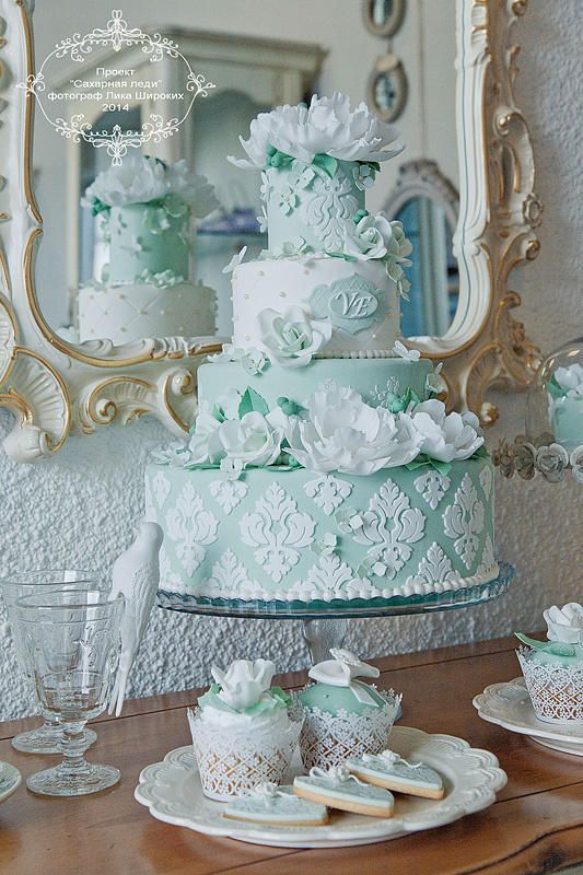 Wedding Philippines - 25 Elegant Tiffany Blue Wedding Cake Ideas (13)