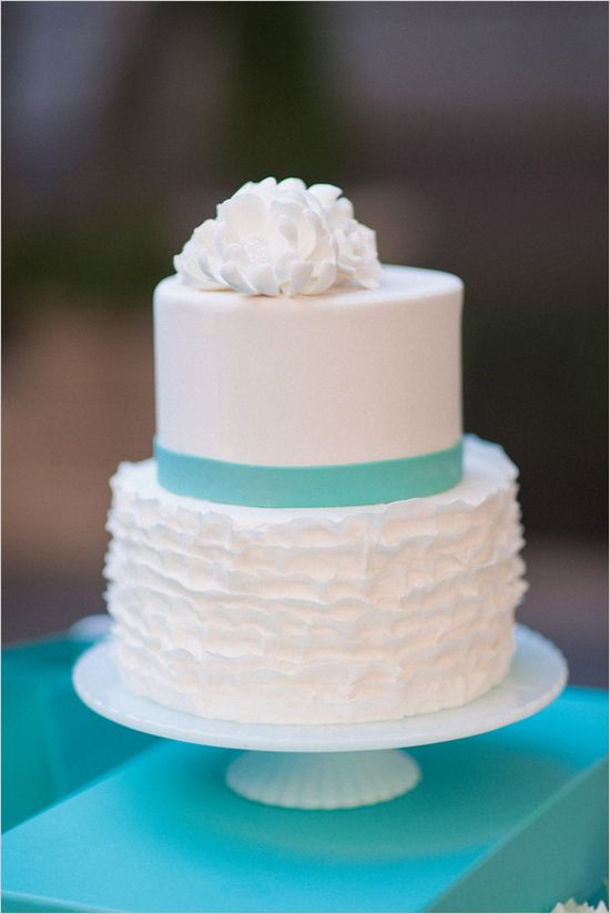 Wedding Philippines - 25 Elegant Tiffany Blue Wedding Cake Ideas (16)