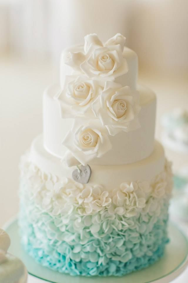 Wedding Philippines - 25 Elegant Tiffany Blue Wedding Cake Ideas (19)