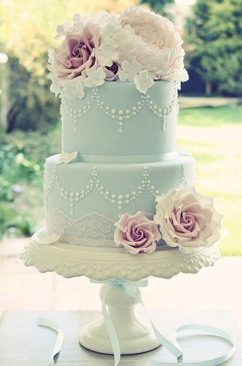 Wedding Philippines - 25 Elegant Tiffany Blue Wedding Cake Ideas (2)
