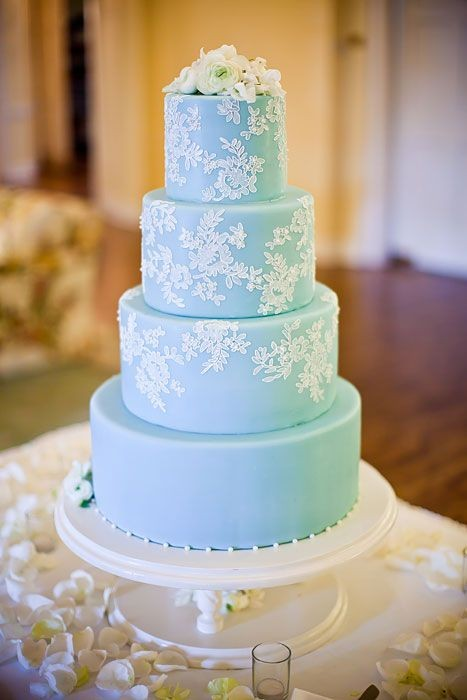 Wedding Philippines - 25 Elegant Tiffany Blue Wedding Cake Ideas (21)