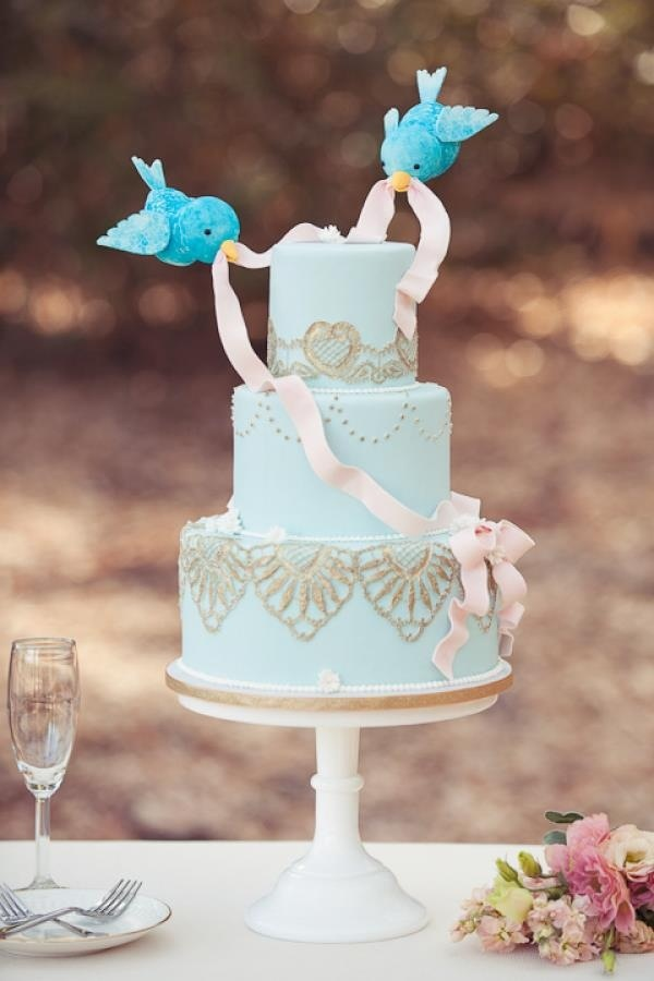 Wedding Philippines - 25 Elegant Tiffany Blue Wedding Cake Ideas (22)
