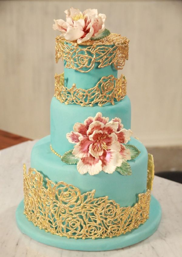 Wedding Philippines - 25 Elegant Tiffany Blue Wedding Cake Ideas (24)