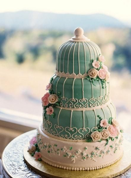 Wedding Philippines - 25 Elegant Tiffany Blue Wedding Cake Ideas (25)