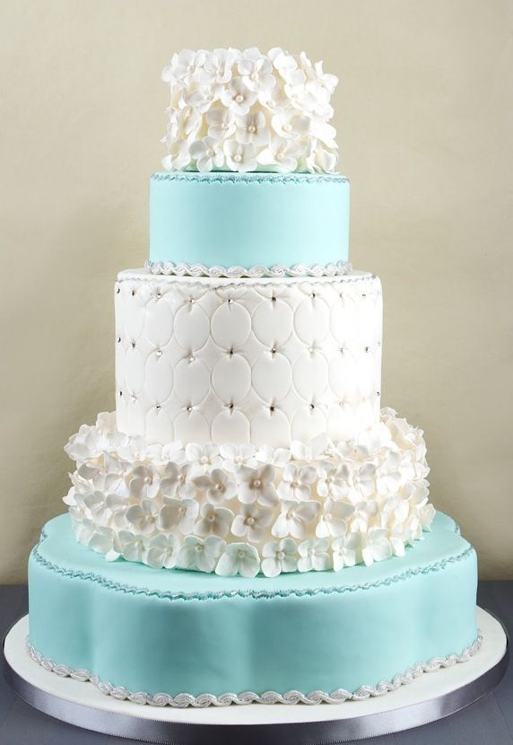Wedding Philippines - 25 Elegant Tiffany Blue Wedding Cake Ideas (3)