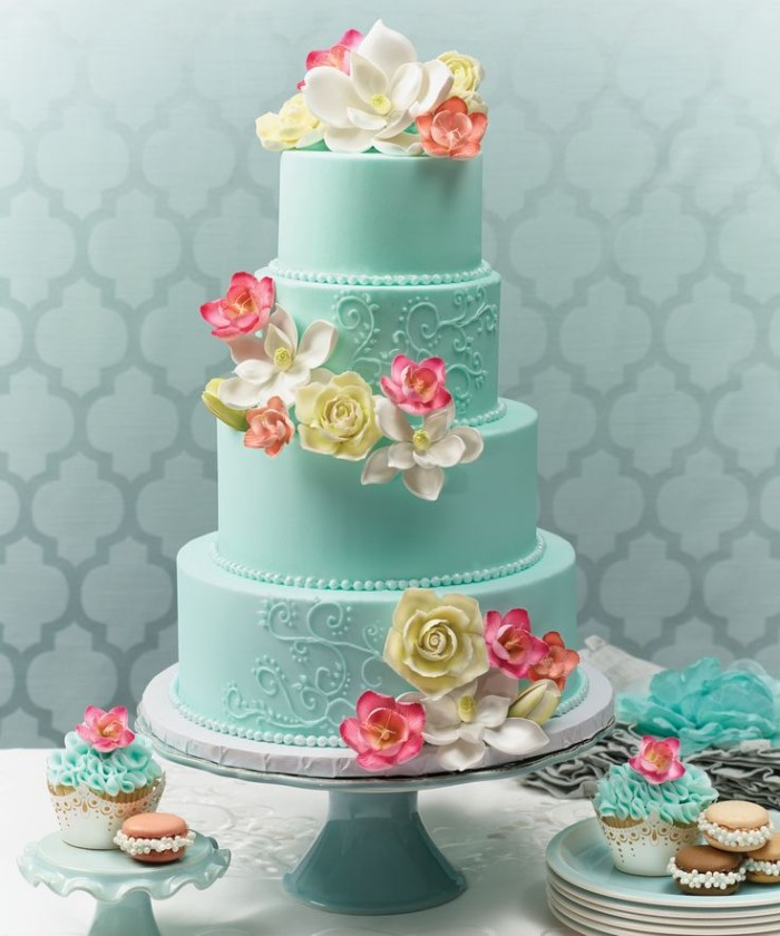 Wedding Philippines - 25 Elegant Tiffany Blue Wedding Cake Ideas (4)