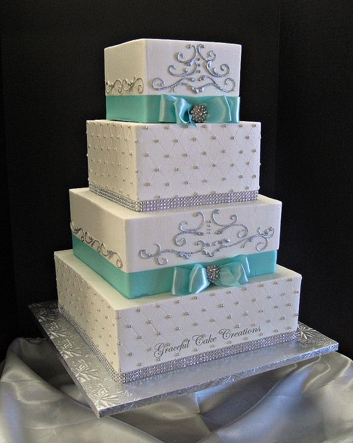 Wedding Philippines - 25 Elegant Tiffany Blue Wedding Cake Ideas (6)