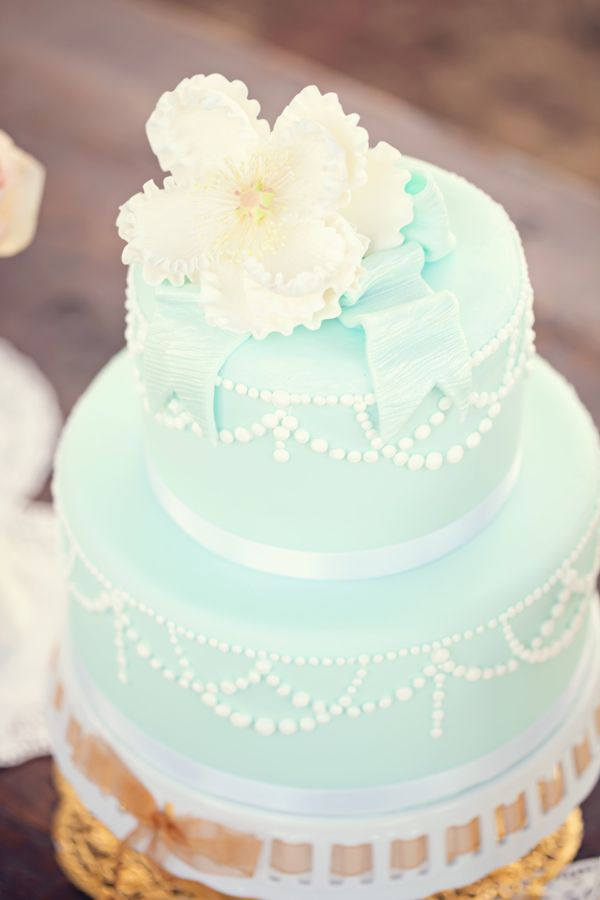 Wedding Philippines - 25 Elegant Tiffany Blue Wedding Cake Ideas (9)