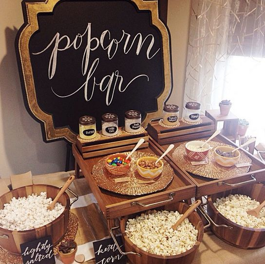 28 Exciting Popcorn Bar Ideas For Your Wedding - Wedding ...