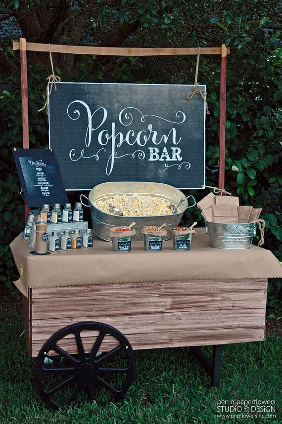 Wedding Philippines - 28 Exciting Popcorn Bar Buffet Food Ideas For Your Wedding (24)
