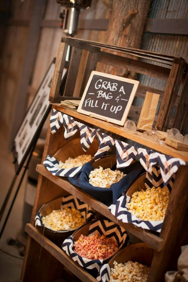 Wedding Philippines - 28 Exciting Popcorn Bar Buffet Food Ideas For Your Wedding (4)