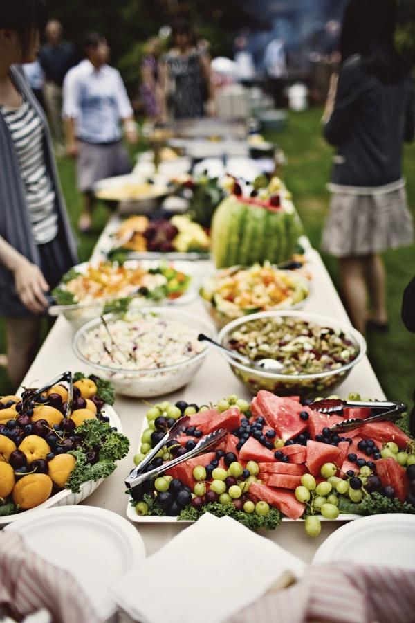 37 surprising fruit and veggie wedding desserts wedding for Food bar garden