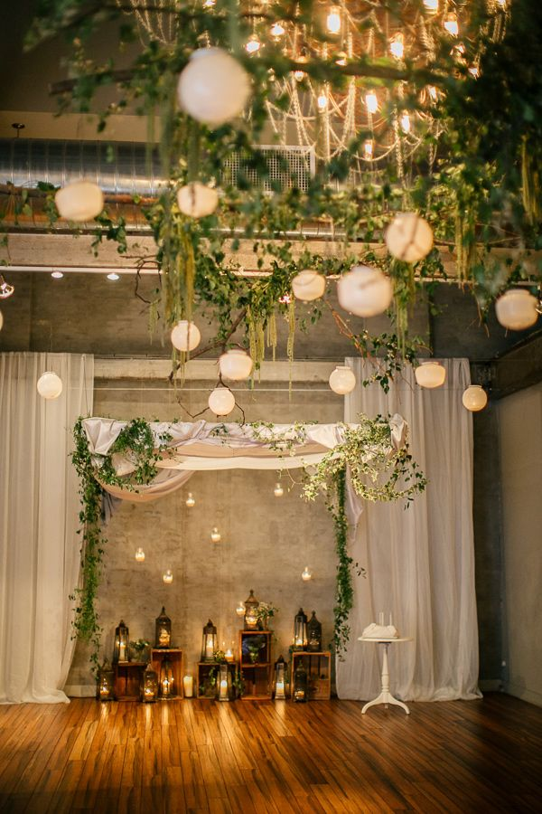 Modern natural greenery wedding inspiration wedding for Wedding greenery ideas