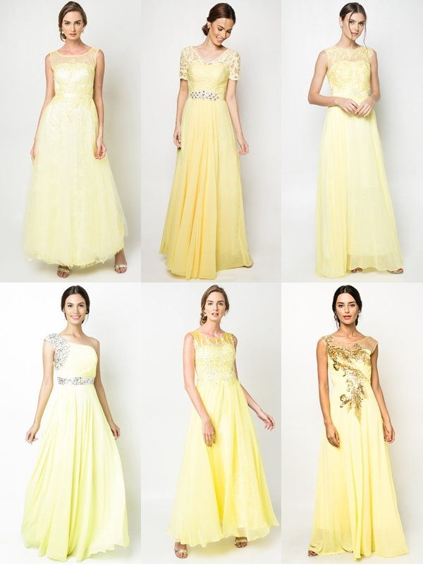 Wedding Philippines - Yellow Dresses Gowns