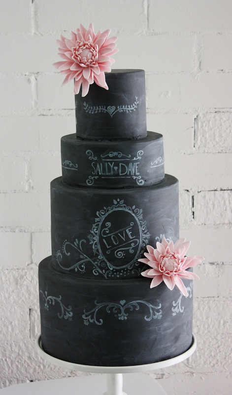 Wedding Philippines - 38 Bold and Chic Black Wedding Cakes (14)