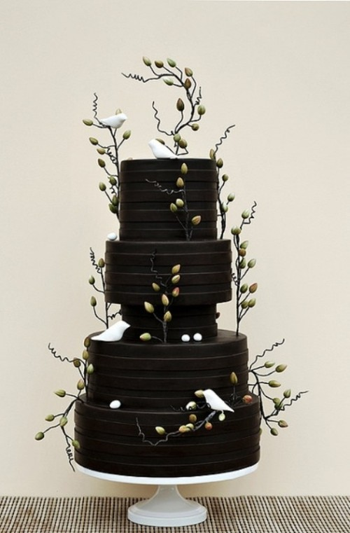 Wedding Philippines - 38 Bold and Chic Black Wedding Cakes (29)