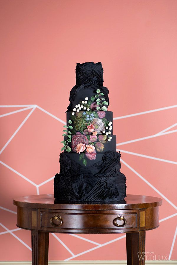 Wedding Philippines - 38 Bold and Chic Black Wedding Cakes (36)