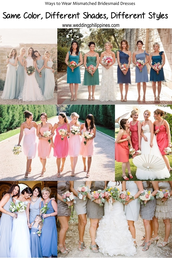 03 Wedding Philippines - Top 6 Ways to Wear Bridesmaid Dresses - Same Color, Different Shades, Different Styles