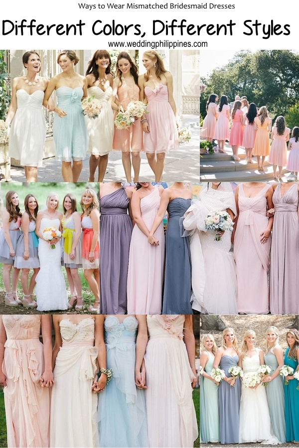 06 Wedding Philippines - Top 6 Ways to Wear Mismatched Bridesmaid Dresses - Different Colors, Different Styles