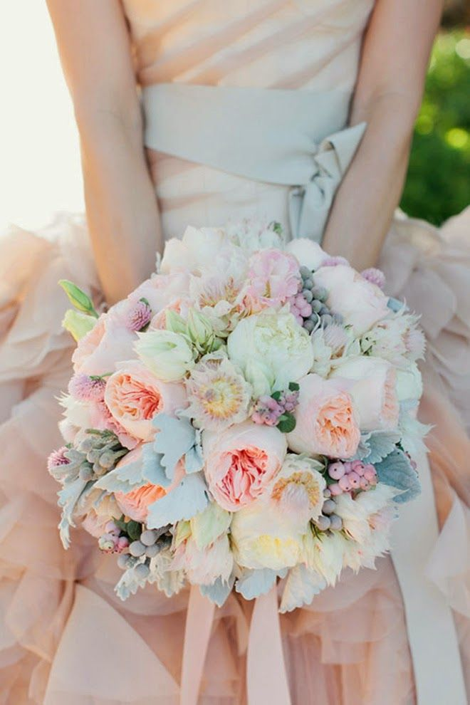 Wedding Philippines - 30 Stunning Mixed Pastel Wedding Bride Bouquet Flower Ideas (1)