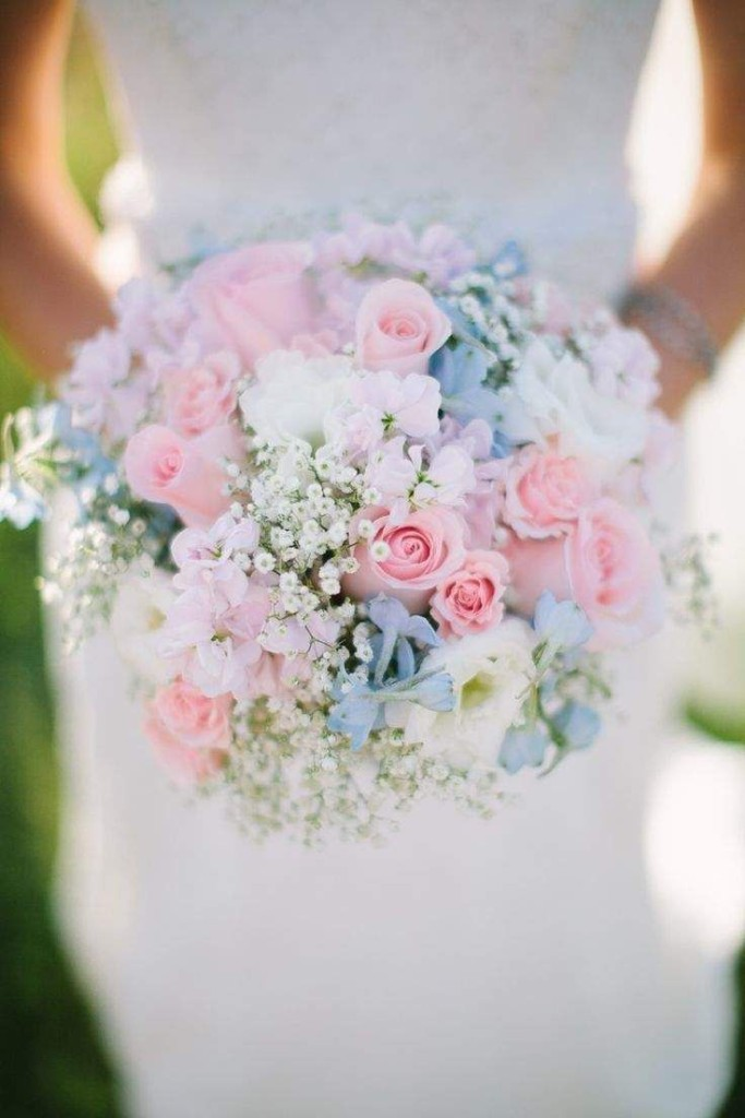 Wedding Philippines - 30 Stunning Mixed Pastel Wedding Bride Bouquet Flower Ideas (20)