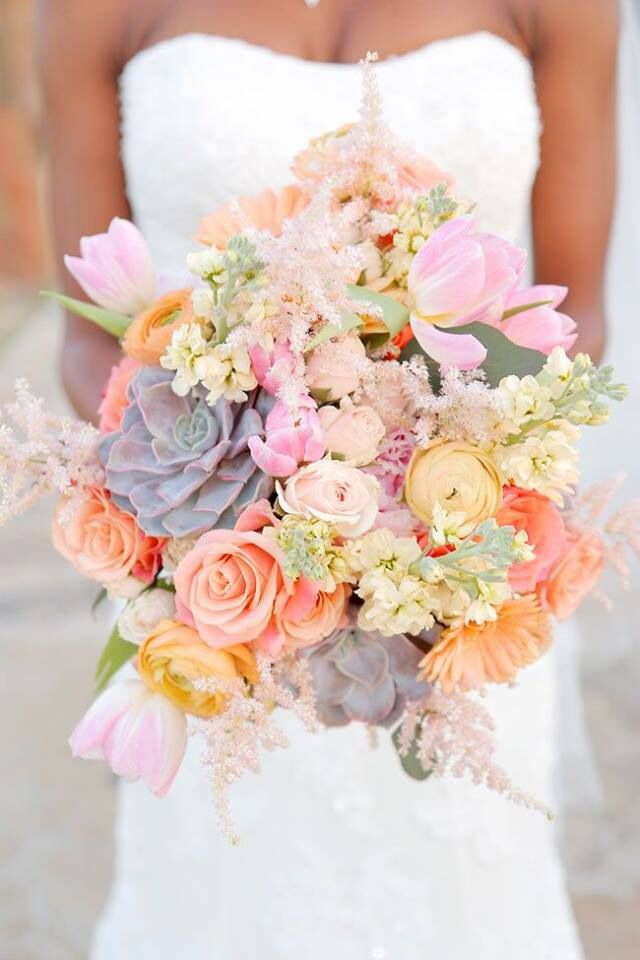 Wedding Philippines - 30 Stunning Mixed Pastel Wedding Bride Bouquet Flower Ideas (21)