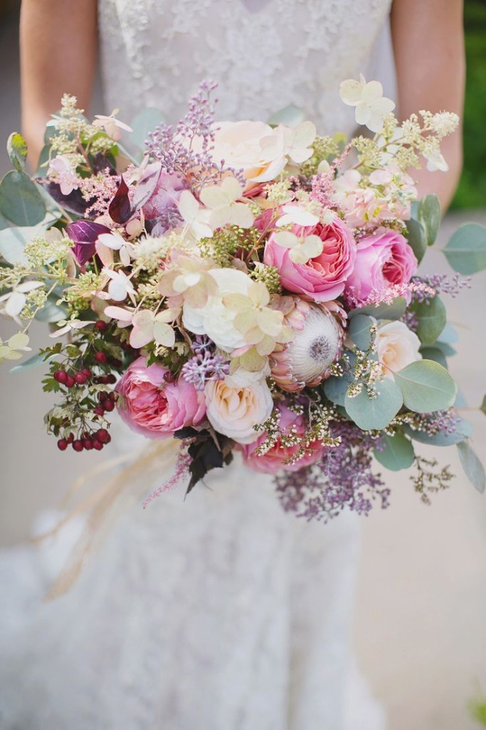 Wedding Philippines - 30 Stunning Mixed Pastel Wedding Bride Bouquet Flower Ideas (25)