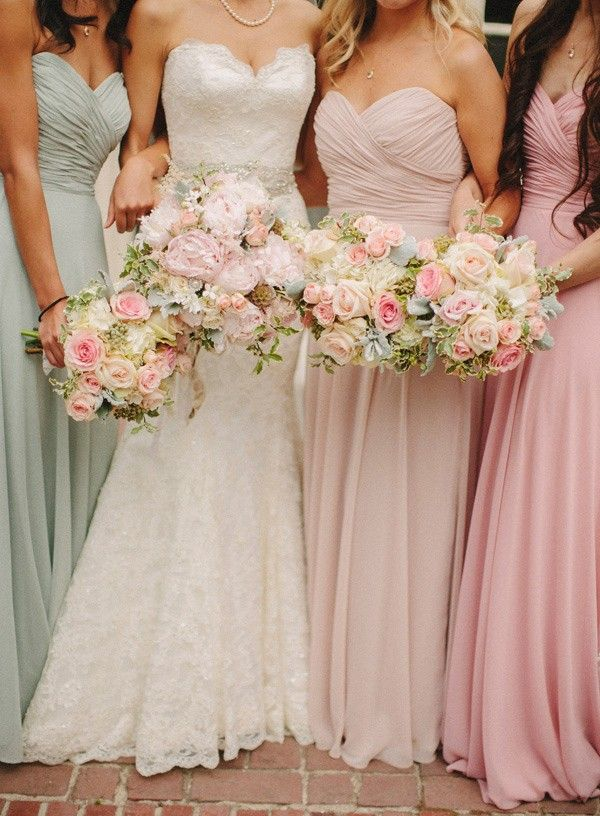 Wedding Philippines - 30 Stunning Mixed Pastel Wedding Bride Bouquet Flower Ideas (27)