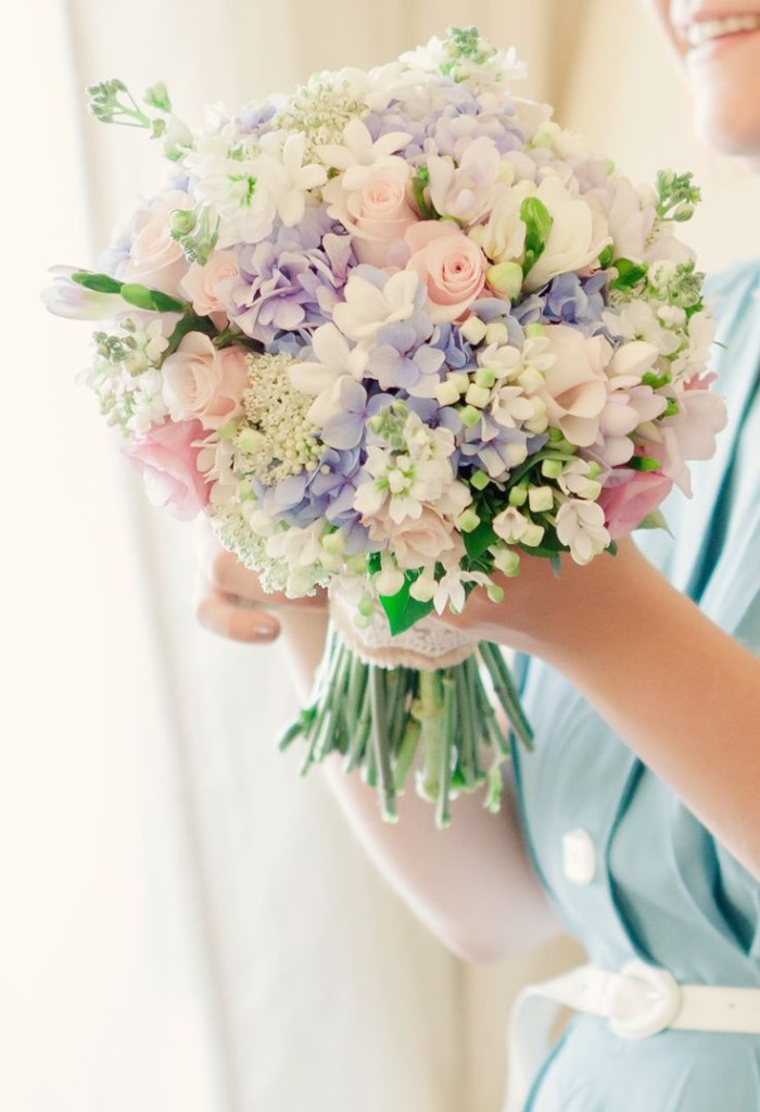 Wedding Philippines - 30 Stunning Mixed Pastel Wedding Bride Bouquet Flower Ideas (28)